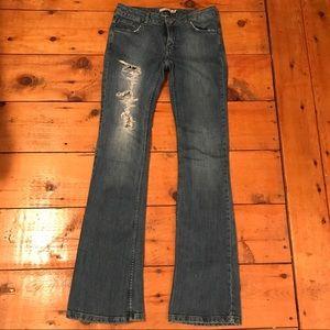 ZARA Basic Distressed Blue Jeans
